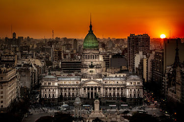 picture of argentina at sunset