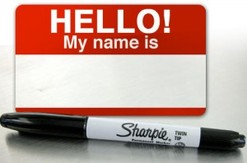 nametag with sharpie