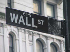 wall street physical sign