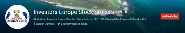 Stock brokers google plus