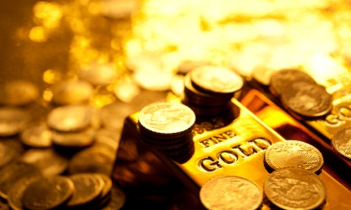 Image of Gold Bars and Coins