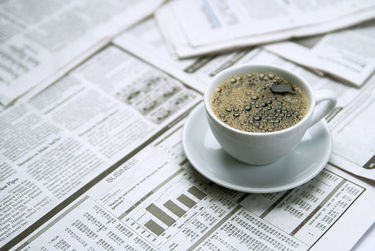 image of index newspaper and coffee