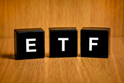ETF Spelled with Blocks