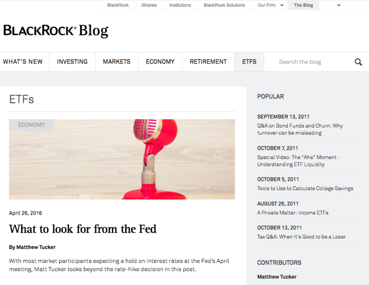 Blackrock Blog for Advisors