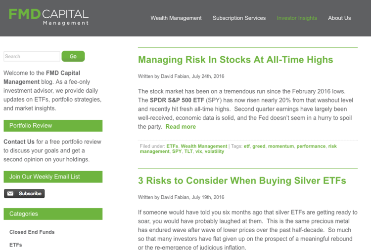 FMD Capital Management Investors Insights