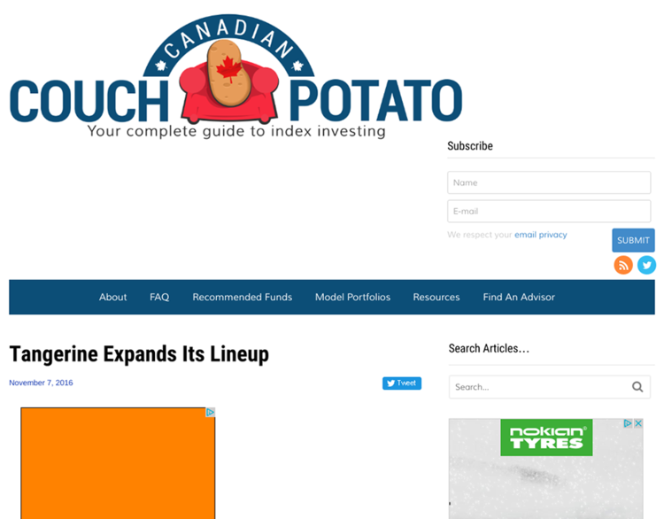 Couch Potato Website
