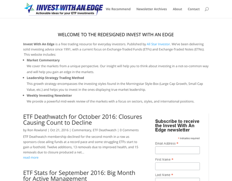 Invest with an Edge webpage