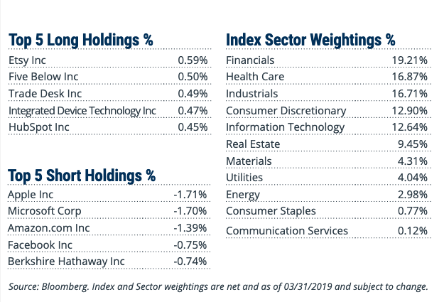 RWSL etf top long short holdings